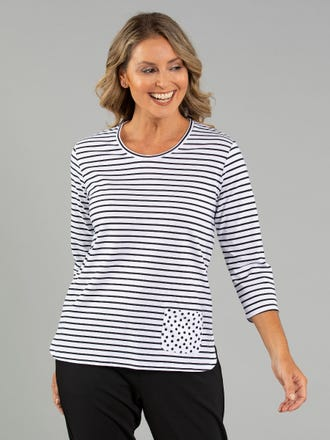 Rhodan 3/4 Sleeve Top