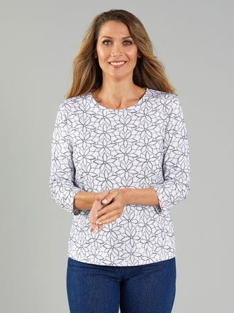Pantea 3/4 Sleeve Top