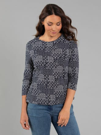 Lawry 3/4 Sleeve Top