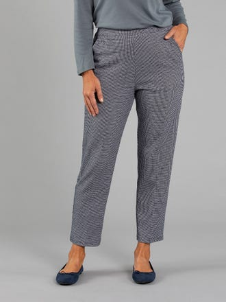 Houndstooth Short Length Pant