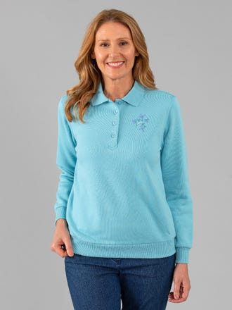 Corrall Snowy Mt Fleece Polo