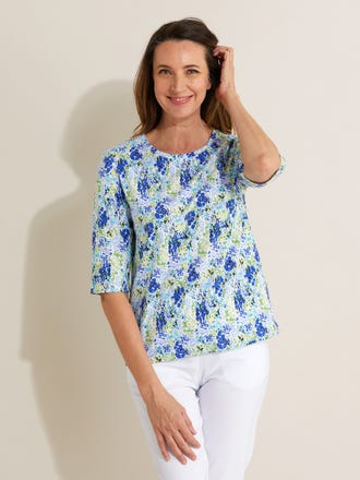 Lucyle Elbow Sleeve Top
