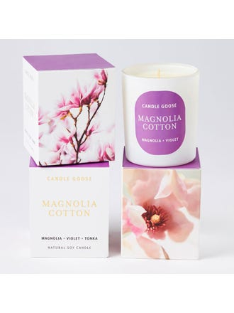 Magnolia Cotton Med Candle