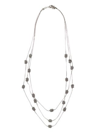 3 Strand Coverred Ball Necklace