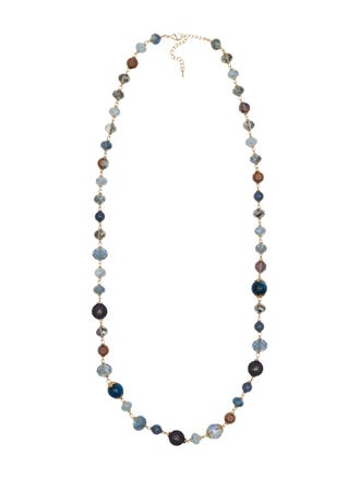 Natural Stone Necklace Long