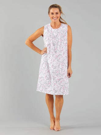 Adalyn Long Sleeveless Nightie