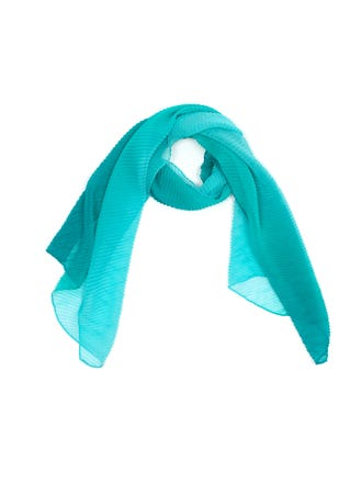 Pleated Ombre Chiffon Scarf