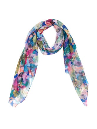 Artists Floral Scarf