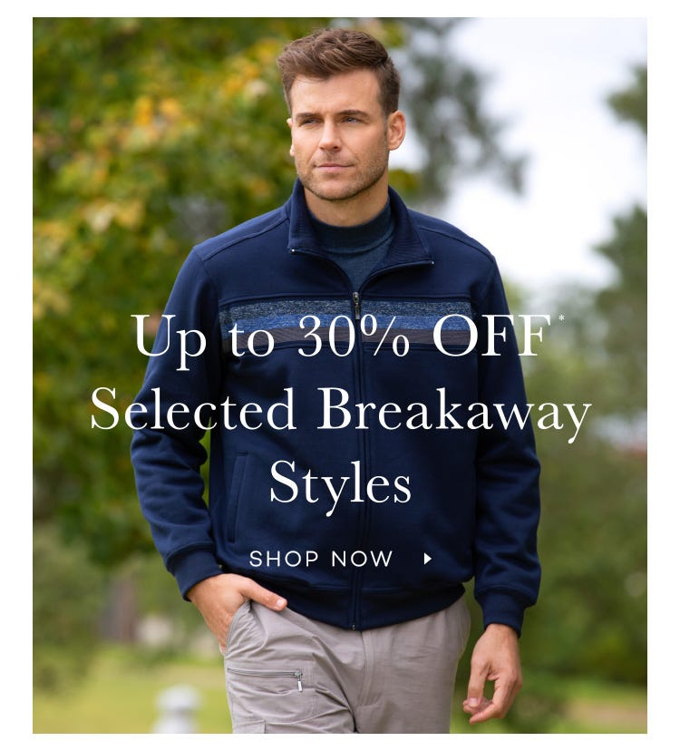 Breakaway shop sale menswear at up to 30% Off